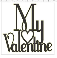 My Valentine 100 x 100  pack of 5