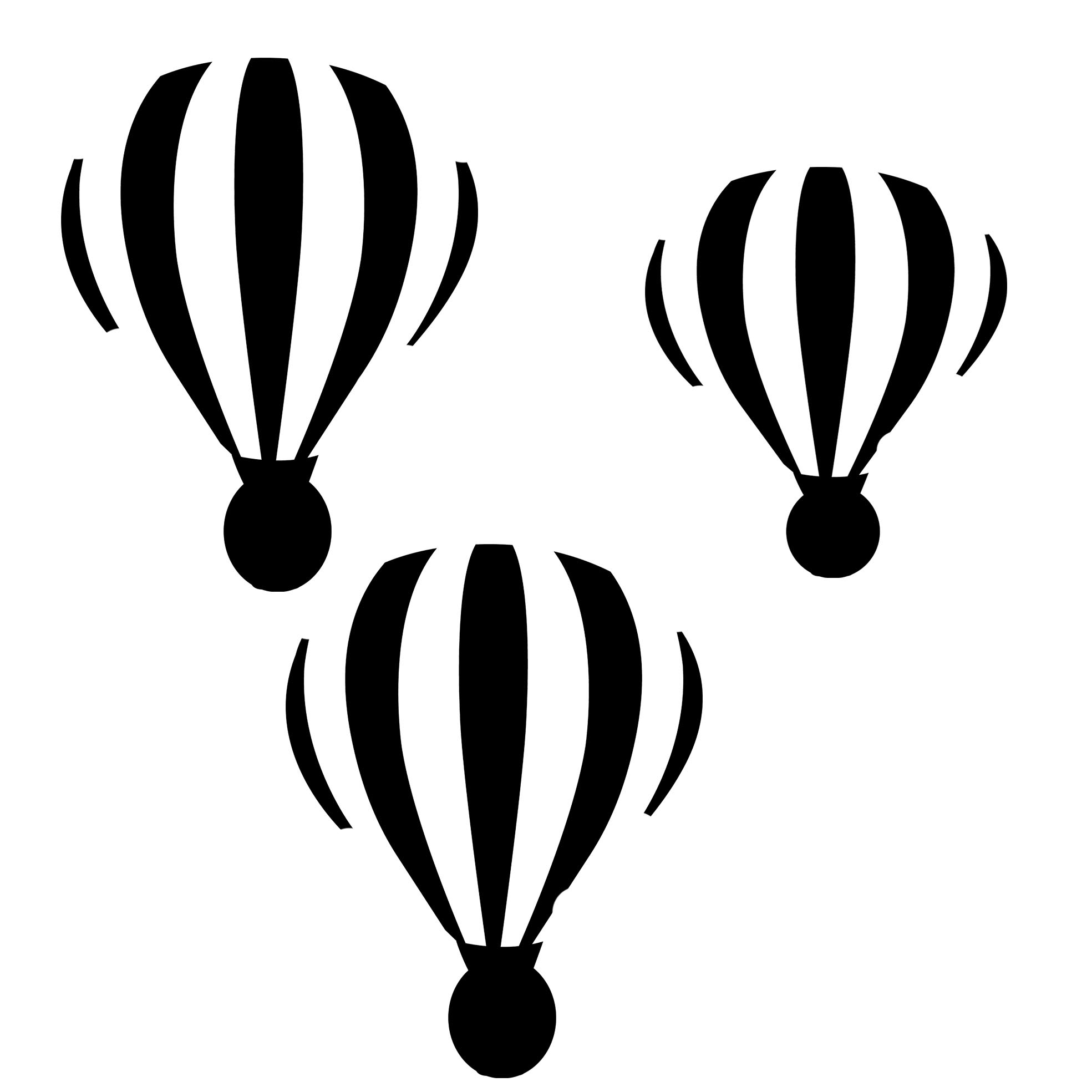 hot air balloons  poly template 8x8 sold in 3's