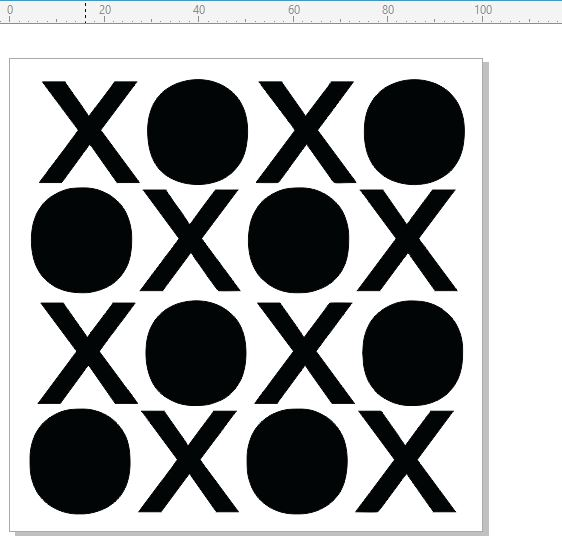 Mini Stencils noughts and crosses  100 x 100mm min buy 5 priced