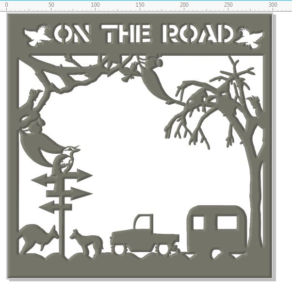 On the road 12 x 12 use as it is or cut apart    can be cut in b