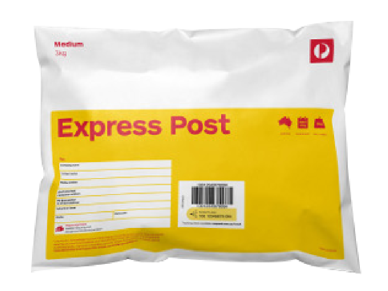 EXPRESS POST  amount will be determined by weigh & size