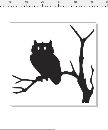 Owl card size 53 x 51 card size pack of 10