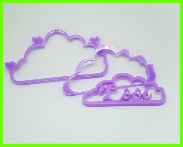 Clouds in Perspex,Love  100 x 45 mm min buy 3