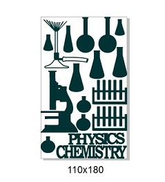 Physics chemistry science school,110 x 180mm min buy 3