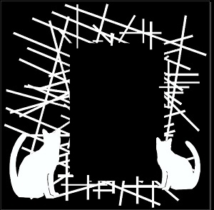 Pick up Sticks cats  frame 200 x 200 frame, Min buy 3