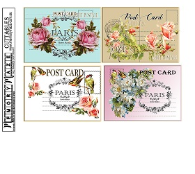 Postcard Cuttables vintage Min Buy 3