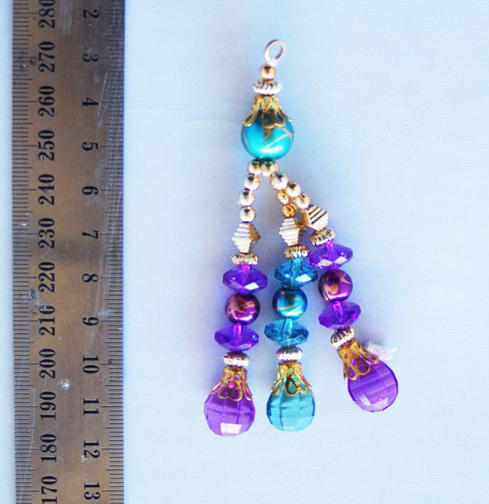 purple and emerald with gold blingsal pack of 6