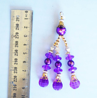 purple and gold blingsal pack of 6