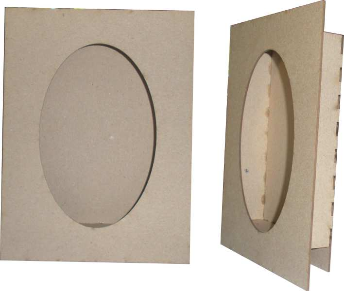 Memory Box Oval, Shadow box  200mm x 150mm  min buy 3