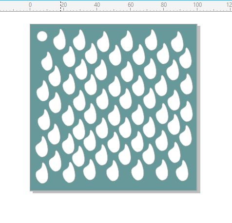 Mini Stencil raindrops 4x4 stencil min buy 5