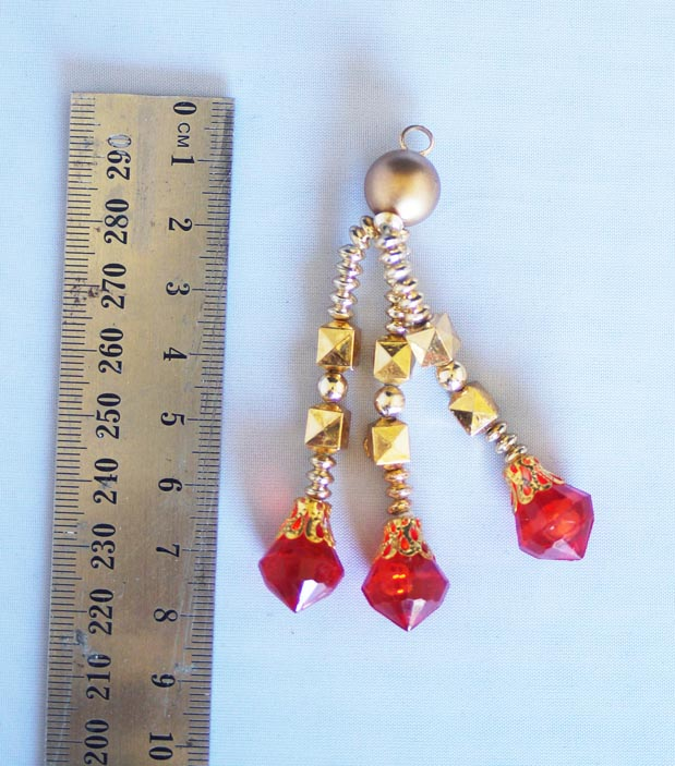 red and gold blingsal pack of 6