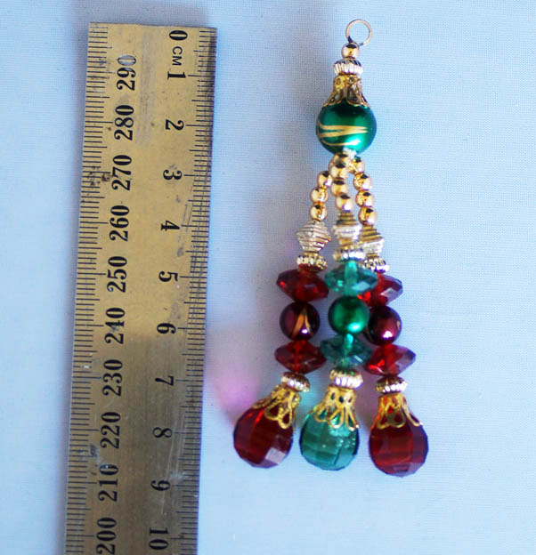 red green and gold blinsal  pack of 6