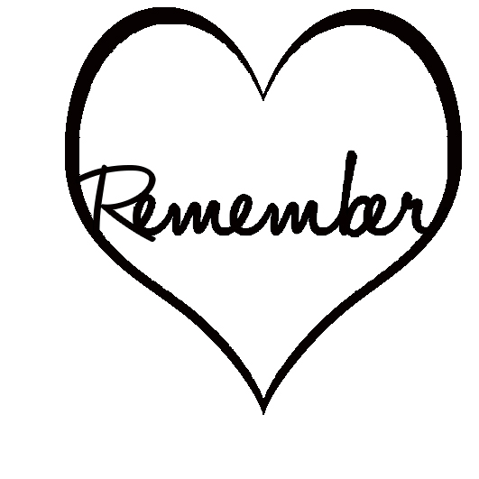 remember inside heart 47 x 47 Pack of 10
