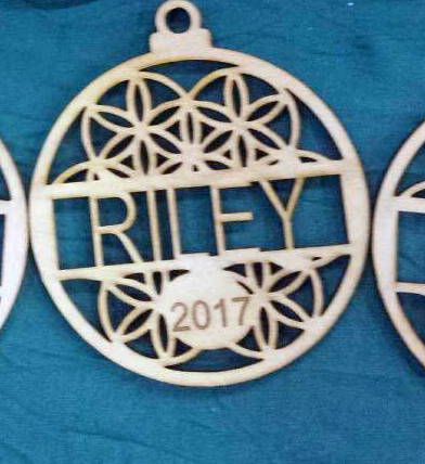 2017 custom name Christmas decorations wood 100 x 100mm