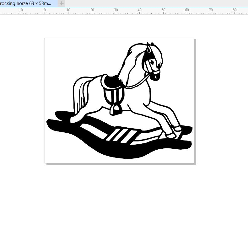 rocking horse 63 x 65. pack of 10 engraved  ideal for scrapbooki