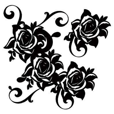 roses corner-  flourish  200 x 200mm min buy 3