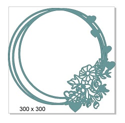 Round frame flower 300 x 300mm