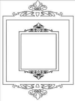 Ornate double square frame sold 3's