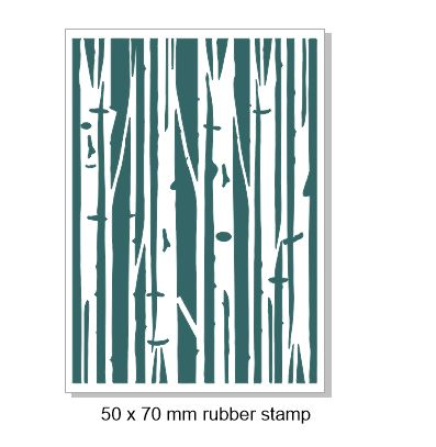 Forest view trees rubber stamp   50 x 70mm Rubber only  for stam
