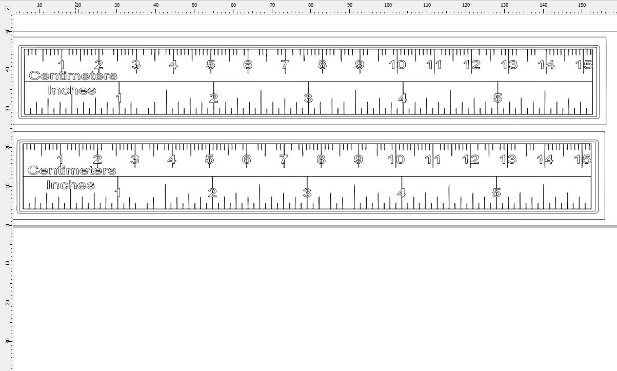 rulers 150 mm long 25 mm wide 2 pack