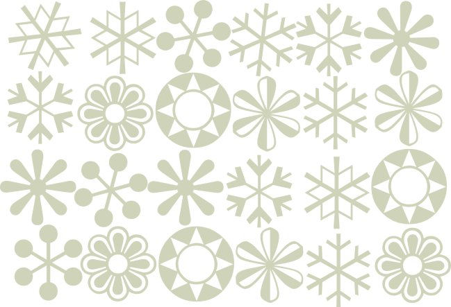Flower & Snow flake multi pack christmas  150 x 100  2 of each