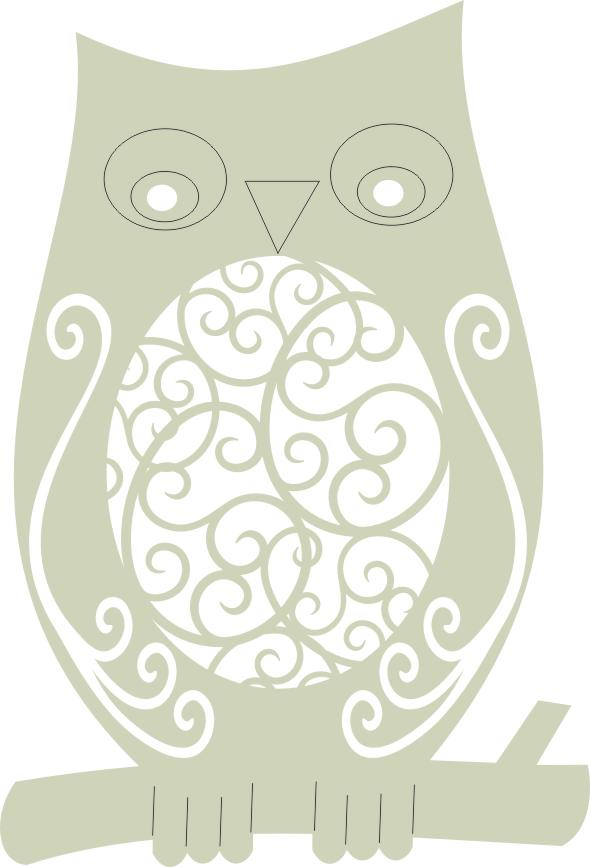 Owl Swirly small