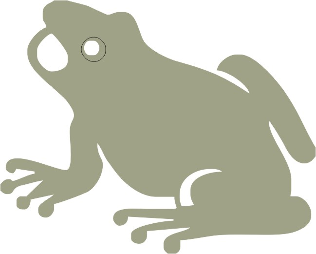 Green Frog 92mm x 74mm min buy 3