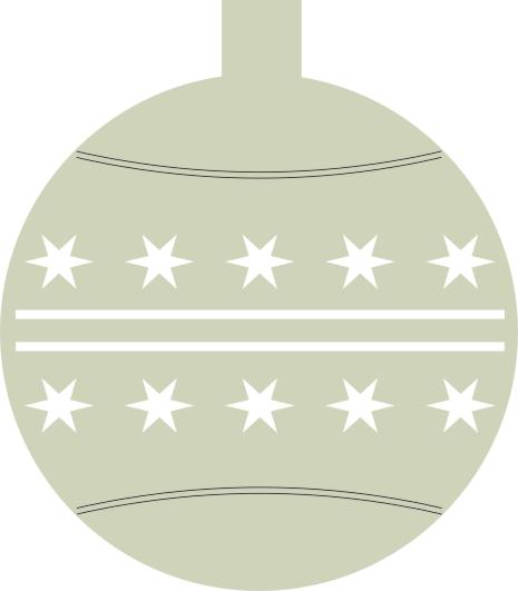 Christmas Bauble with Stars