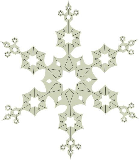 Snow Flake  70 x 70  pack of 3 ideal for christmas