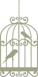 Bird Cage with birds  Birds  vintage 59mm x 119mm  min buy 3