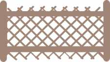 Lattice fence panel 57 x 100mm with rails