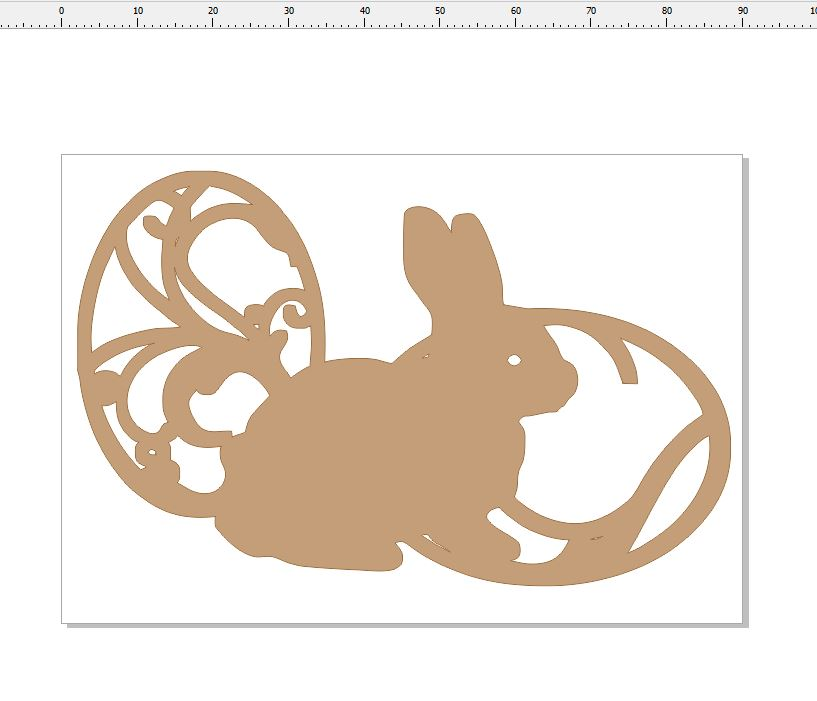 S0687 bunny and egg  pack of 10  approx 80 x 50 mm