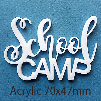 School Camp, 70 x 47 mm , Acrylic,min buy 3  ,