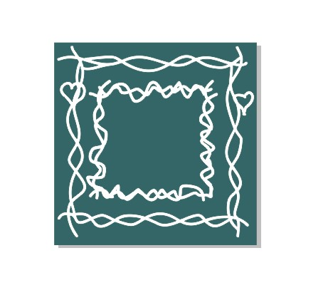 Scribble square frames 200 x 200  Min buy 3 made in Australia