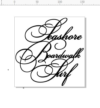 seashore boardwalk surf Script  155 x 155.min buy 3