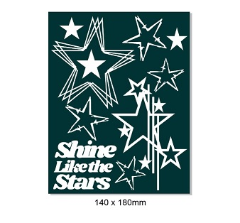 Shine like the stars  140 x 180. Min buy 3