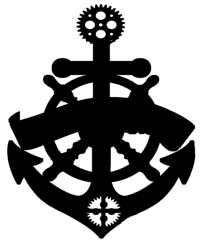 ships wheel anchor banner 70 x 45 mm pack of 10