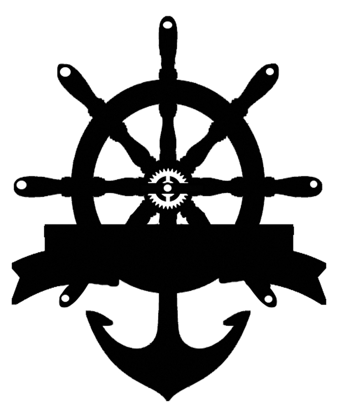 ships wheel banner 1  70mm x 45 mm pack of 10