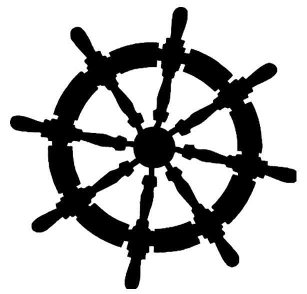 ships wheel maritime 50 x 50 mm pack 10