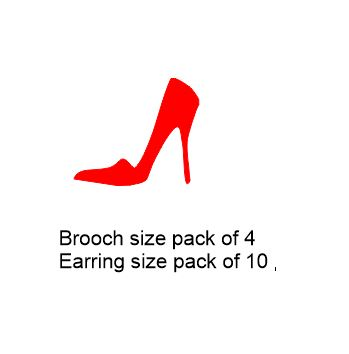 Shoe,ladies Brooch or earring size acrylics see drop down box fo