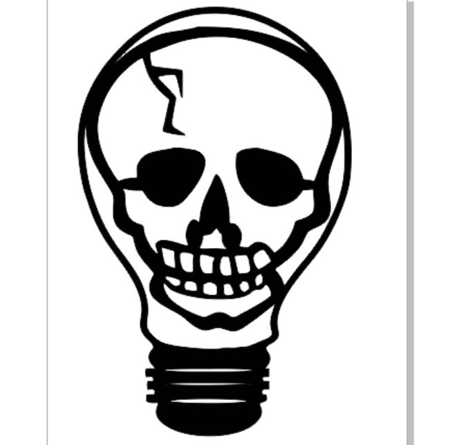 Skull light bulb 60mm pack 10