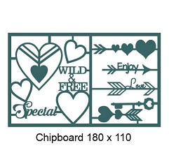 Special,Wild and free 110 x 180mm  min buy 3