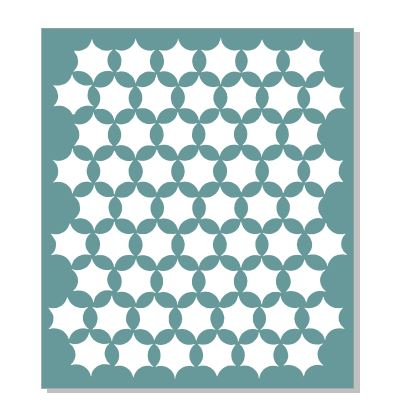 13 x 15  inch Stars  stencil   suited to use with  Large Gelli p