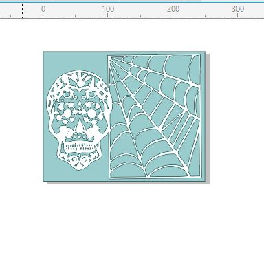 sugar skull  spiders web  200 x 250 mm min buy 3