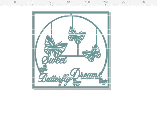 Sweet butterfly dreams 210 x 210  Min buy 3