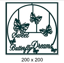 Butterfly dreams frame 160 x 145