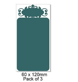 Chipboard Tags,  Tag top, 130 x 50 mm packs of 3