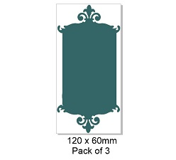 Chipboard Tags, Tag top,3 120 x 60 mm packs of 3