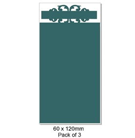 Chipboard Tags, Tag top, 130 x 60 mm packs of 3