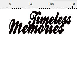 Timeless Memories  152 x 58mm  Min buy 3